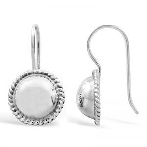 Sterling-silver-ball-bezel-silver-earrings