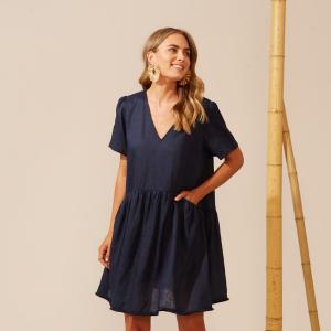 Haven-martinique-navy-dress