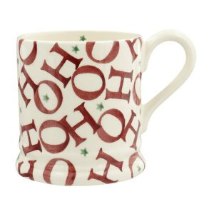 EMMA-BRIDGEWATER-RED-ALL-OVER-HO-HO-HO-HALF-PINT-MUG