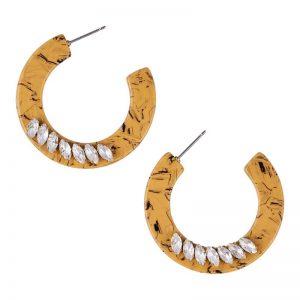 manyara-saffron-hoop-earring