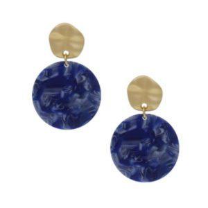 Blue-Resin-Disc-Drop-Earring