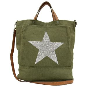 Star-Power-Canvas-Khaki-Tote-Bag