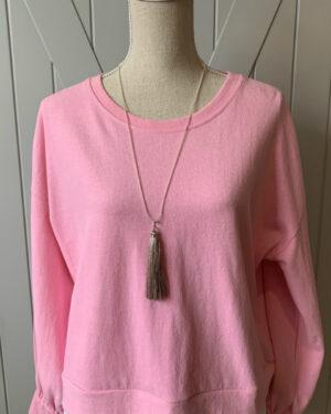 Blush-Tassel-Seed-Bead-Necklace