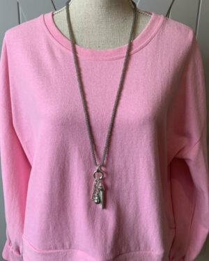 Grey-Glass-Ball-Tassel-Necklace
