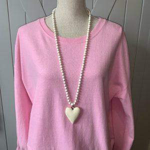 Ivory-White-Turquoise-Beaded-Necklace