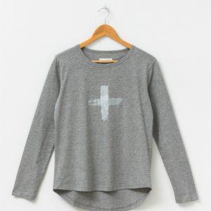 Stella-Gemma-Grey-Marle-With-Silver-Cross-T-Shirt
