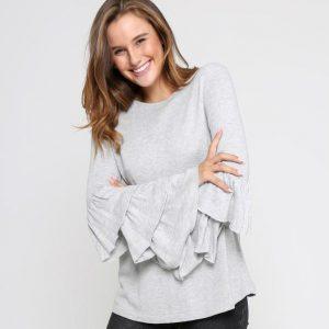 Neene-Marle-Grey-Frill-TShirt