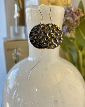Sterling-Silver-Round-Hammered-Earring