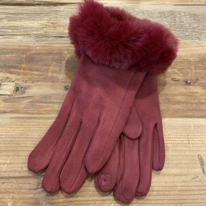 Suede-Glove-Burgundy