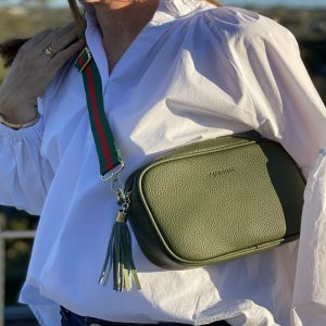 Zjoosh-Khaki-Ruby-Sports-Cross-Body-Bag