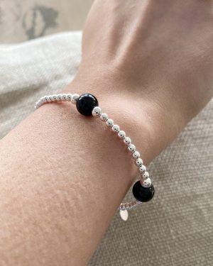 sterling-silver-onyx-ball-bracelet