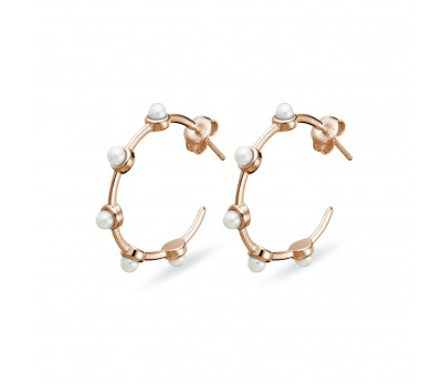 sterling-silver-rose-gold-hoop-earring-with-pearl