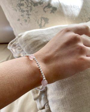 sterling-silver-rose-quartz-ball-bracelet