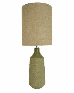 Frond-Ceramic-Lamp-Green-Natural
