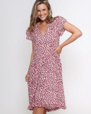 Leoni-Blush-Leopard-Dress