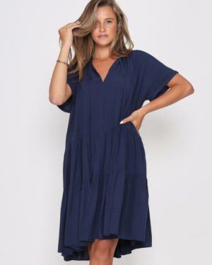 Leoni-Navy-Dress